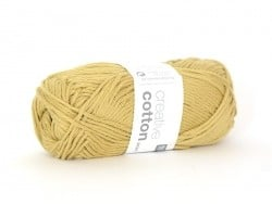 "Cotton knitting yarn - ""Creative Cotton Aran"" - sand (colour no. 59)"