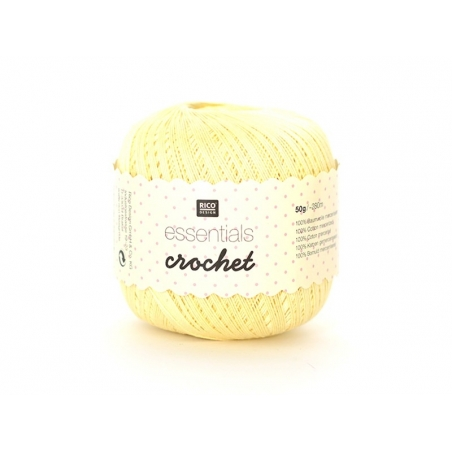 "Crochet cotton - ""Essentials - Crochet"" - vanilla (colour no. 20)"