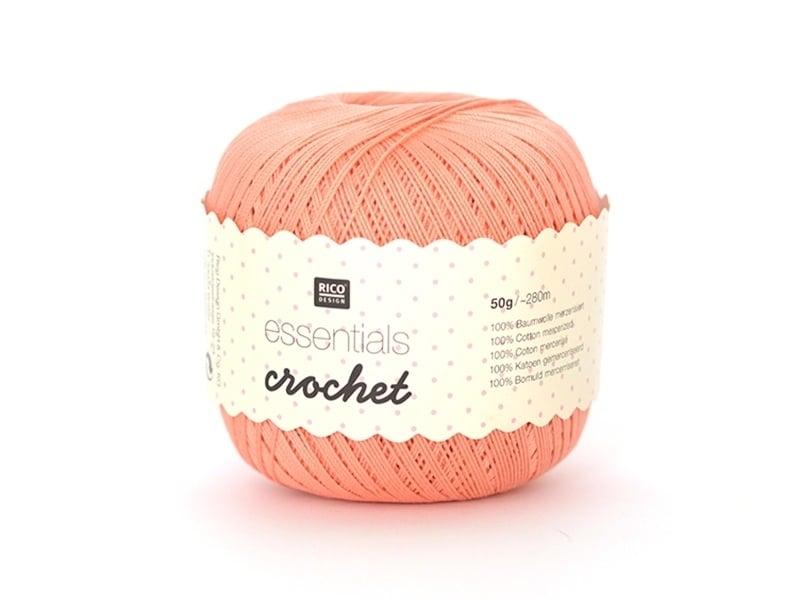 "Crochet cotton - ""Essentials - Crochet"" - salmon (colour no. 22)"