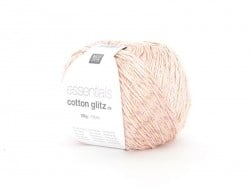 "Knitting yarn - ""Essentials Cotton Glitz DK"" - pink (colour no. 07)"