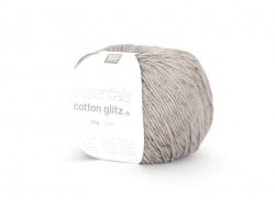 "Knitting yarn - ""Essentials Cotton Glitz DK"" - light grey (colour no. 11)"