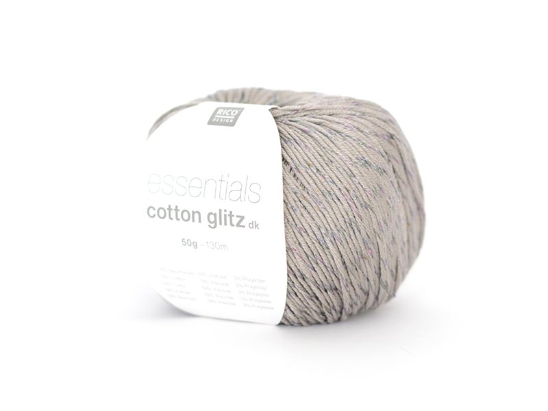 "Coton à tricoter ""Essentials Cotton Glitz DK"" - gris clair 11"