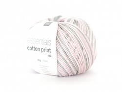 "Knitting yarn - ""Essentials Cotton Print DK"" - lilac mix (colour no. 03)"