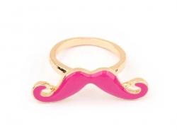Bague moustache Rose