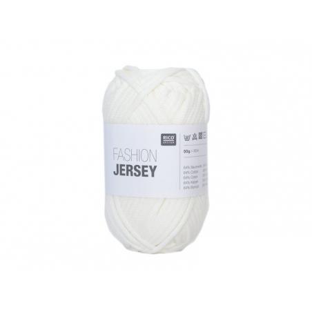 """Acheter Fil à tricoter """"Fashion Jersey"""" - Blanc 01 - 4,50€ en ligne sur La Petite Epicerie - Loisirs créatifs"""