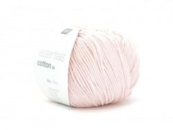 "Cotton knitting yarn - ""Essentials Cotton DK"" - pastel pink"