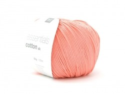 "Cotton knitting yarn - ""Essentials Cotton DK"" - salmon"
