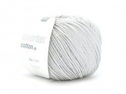 "Cotton knitting yarn - ""Essentials Cotton DK"" - silver-grey"