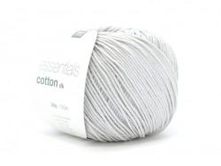 "Cotton knitting yarn - ""Essentials Cotton DK"" - silver-grey"