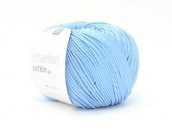 """Coton à tricoter """"Essentials Cotton DK"""" - bleu ciel"""