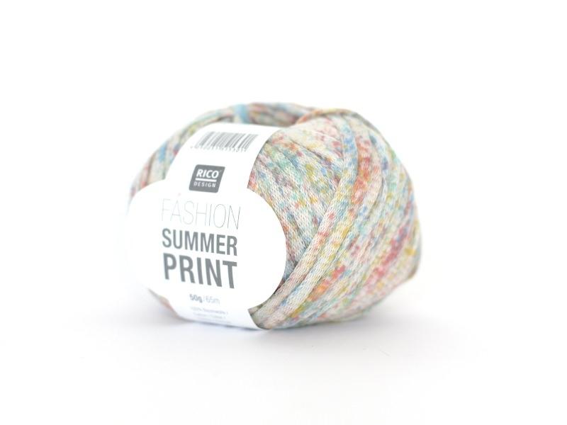 "Fil à tricoter ""Fashion Summer Print"" - Multicolore 02"
