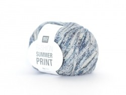 "Knitting yarn - ""Fashion Summer Print"" - denim (colour no. 03)"