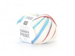 "Knitting yarn - ""Fashion Summer Print"" - ocean (colour no. 011)"