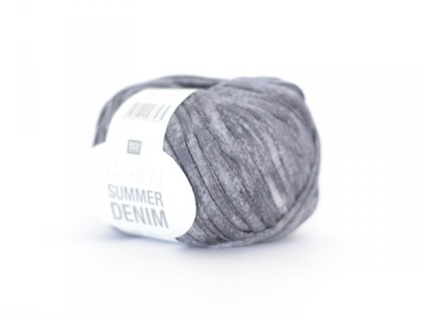 "Fil à tricoter ""Fashion Summer Denim"" - gris bleu 06"