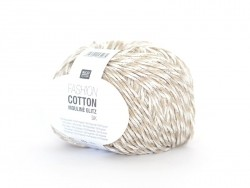 "Coton à tricoter ""Fashion Cotton Mouliné Glitz DK"" - beige"