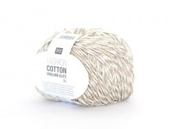 "Knitting yarn - ""Fashion Cotton Mouliné Glitz DK"" - beige (colour no. 01)"