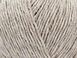 "Strickwolle - ""Fashion Cotton Mouliné Glitz DK"" - beige (Farbnr. 01)"