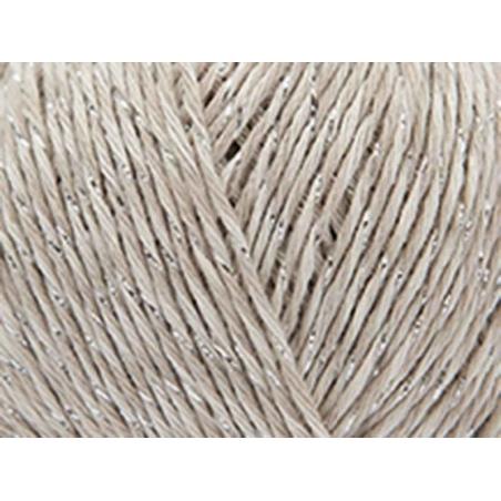 """Coton à tricoter """"Fashion Cotton Mouliné Glitz DK"""" - beige 01"""
