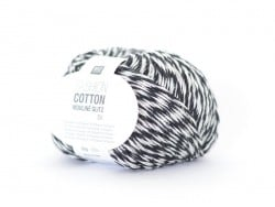 "Knitting yarn - ""Fashion Cotton Mouliné Glitz DK"" - black (colour no. 03)"