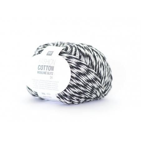 """Acheter Coton à tricoter """"Fashion Cotton Mouliné Glitz DK"""" - noir 03 - 4,65€ en ligne sur La Petite Epicerie - Loisirs créatifs"""