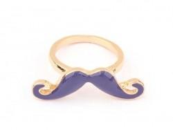 Violet moustache ring