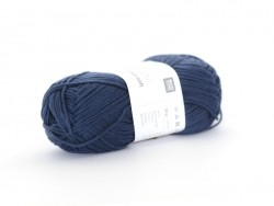 "Knitting wool - ""Rico Baby Cotton So Soft DK"" - navy blue (colour no. 37)"