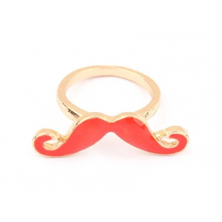 Bague moustache Rouge
