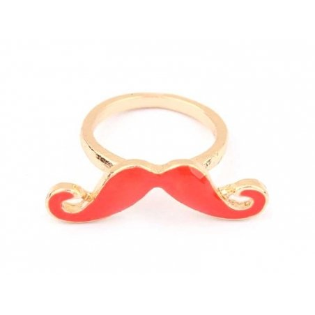 Red moustache ring