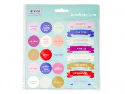 4 planches de stickers - ronds et bannières