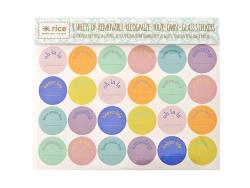 4 planches de stickers pour verres - ronds