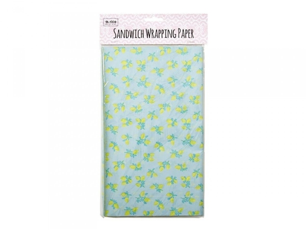 Sandwich wrapping paper (50 pcs) - lemon