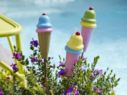 Bougie glace - Rose / jaune