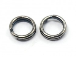 100 dark silver-coloured double jump rings - 7 mm