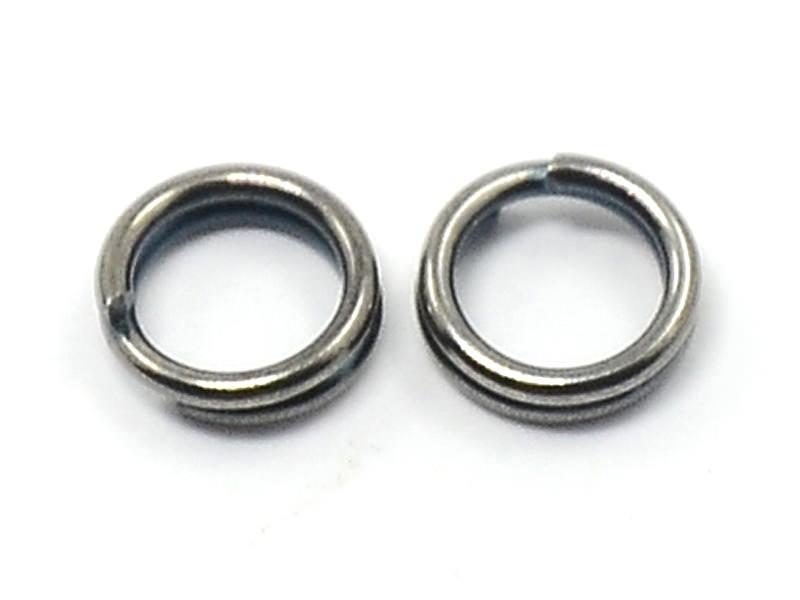 100 anneaux doubles argenté foncé - 7 mm  - 1