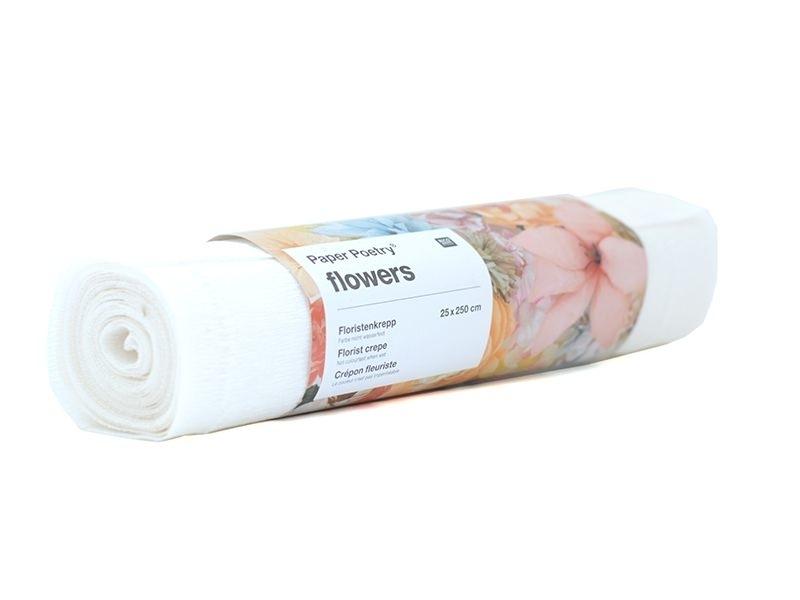Papier crépon fleuriste 25 x 250 - blanc 51