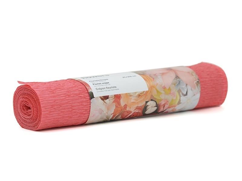 Florist crepe paper (25 cm x 250 cm) - red (colour no. 59)