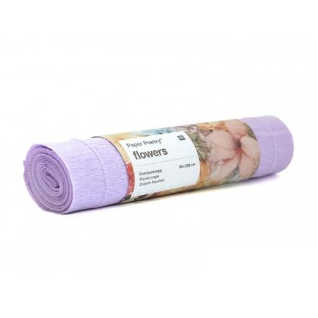 Florist crepe paper (25 cm x 250 cm) - lilac (colour no. 65)