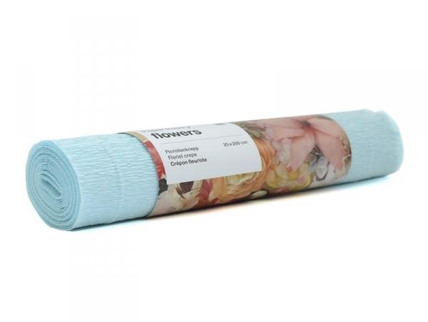 Florist crepe paper (25 cm x 250 cm) - light blue (colour no. 67)