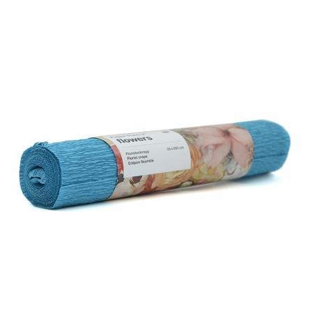 Papier crépon fleuriste 25 x 250 - turquoise 68