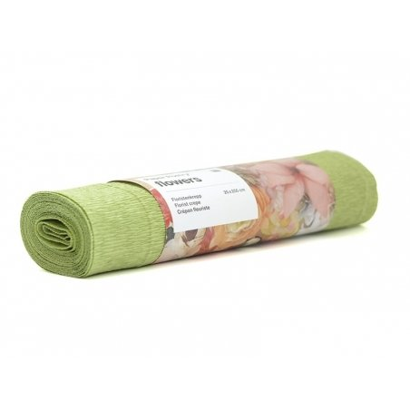 Papier crépon fleuriste 25 x 250 - vert jonc 72