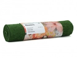 Florist crepe paper (25 cm x 250 cm) - green (colour no. 73)