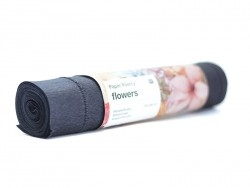 Papier crépon fleuriste 25 x 250 - noir 75