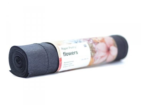 Florist crepe paper (25 cm x 250 cm) - black (colour no. 75)