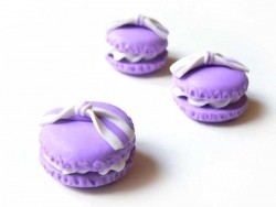 Acheter Cabochon macaron et son noeud - Mauve - 1,59€ en ligne sur La Petite Epicerie - Loisirs créatifs