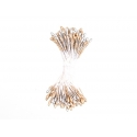 100 pistils de fleur artificiels - or / argent