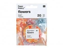 10 tiges pour fleurs en papier