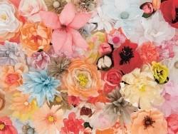 Papier crépon fleuriste 50 x 250 - rouge 77