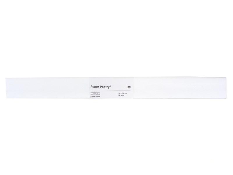 Papier crêpon - blanc Rico Design - 1