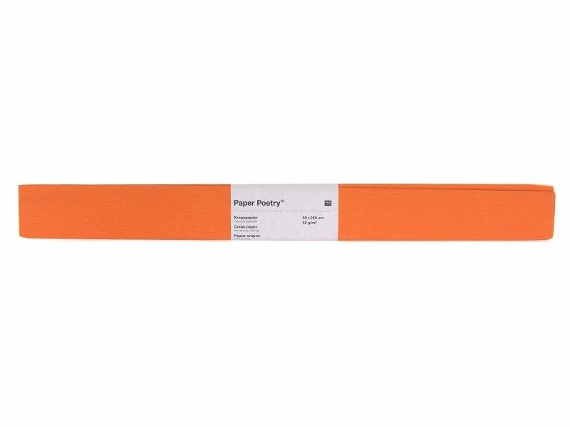 Papier crépon - orange