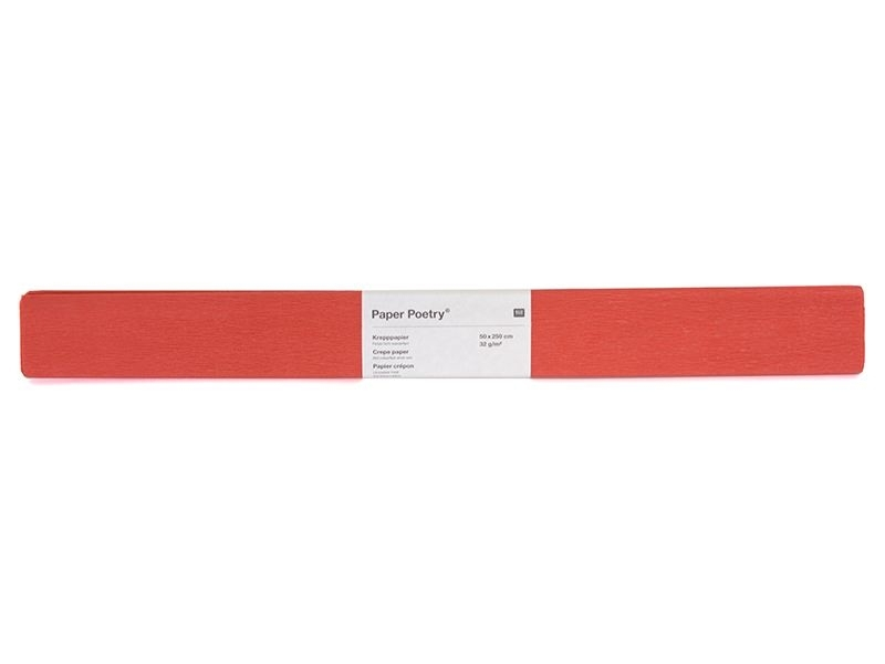 Crepe paper - red